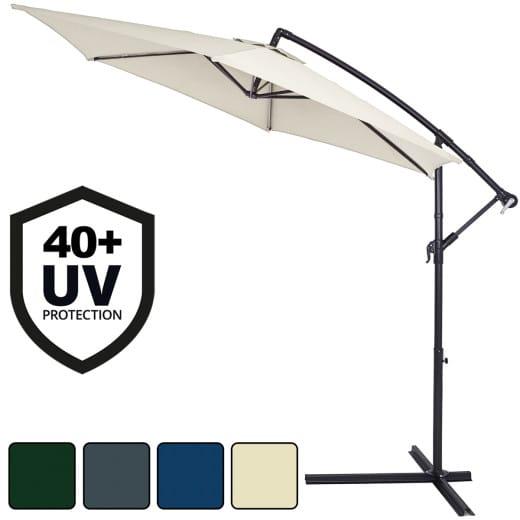 Ombrellone a sbalzo alluminio Ø330cm – Protezione UV 40+