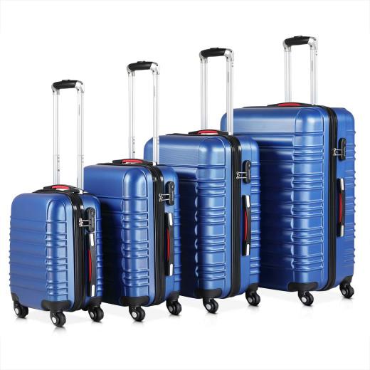 Set Valigie rigide Baseline Navy S/M/L/XL 4 pezzi blu ABS 34l 55l 84l 120l