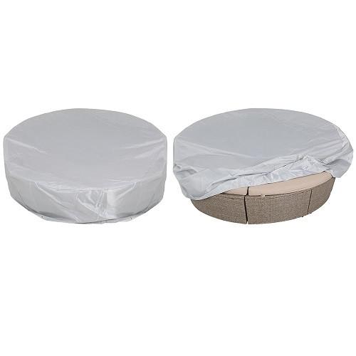 Telo protettivo per letto isola grigio 230x180x90/50cm