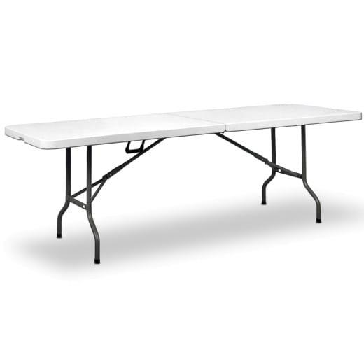 Gartentisch in Weiß Kunststoff 240x70x74cm klappbar