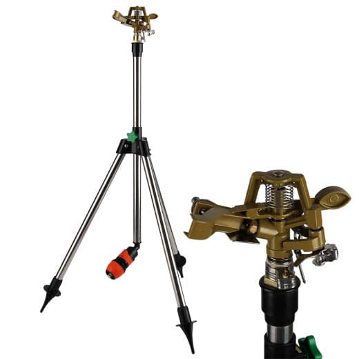 Rasensprenger Impulsregner mit Teleskopstativ